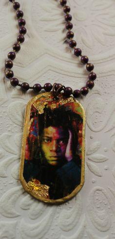 Jean Michel Basquiat Self Portrait Urban Gypsy Loves Hipster Image  Pendant Boho Chic Necklace by UrbanGypsyIndy on Etsy