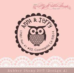 Big Eyes Owlie Personalize Rubber Stamp Custom by myrubberstamp, $18.00