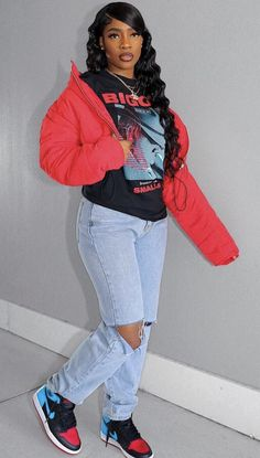 Baddie Outfits Casual, Cute Swag Outfits, Hipster Outfits, Teen Fashion Outfits, Dope Outfits, Retro Outfits, Trendy Outfits, Girl Outfits, Swag Outfits For Girls