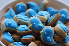 Tiny Bluebird Cookies. REALLY cute