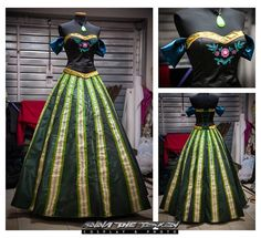 Costume inspired by Anna's in Disney's Frozen