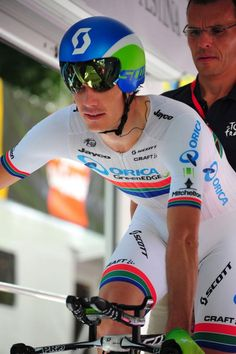 Daryl Impey - Orica GreenEdge Bicycle Helmet, Bike, Cycling News, Cyclists, Bicycling, Racing, Sport, Bicycle Kick, Cycling