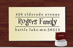 Custom Personalized  SELF INKING Return Address Rubber Stamp - STYLE 1283- cute wedding or christmas gift
