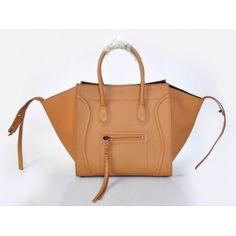 Celine Luggage Phantom Handbag Tan