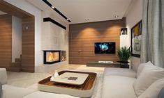 Projekt domu Karat 5 156,82 m2 - koszt budowy - EXTRADOM Mediterranean Style Homes, New Homes, Exterior, Home Decor, Collection, Ideas, Home Plans, Plants, Living Room