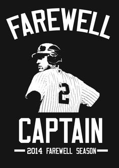 New York Yankees - Derek Jeter - Farewell Captain Yankees Baby, New York Yankees Baseball, Damn Yankees, Baseball Anime, Baseball Cards, Baseball Gifts, Baseball Players, Baseball Field, Derek Jeter