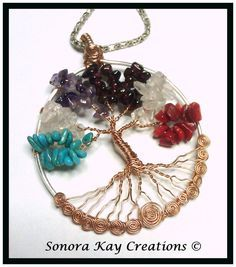 Genuine Gemstone Birthstone Tree of Life Pendant Made To Order Ships USPS Priority Domestic Only