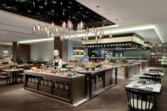 Restaurant Design, Restaurant Bar, Open Buffet, Courtyard Marriott, Cantonese Cuisine, Asian Restaurants, Price Comparison, Kitchen Layout, Ceiling Design