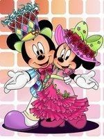 Mickey Mouse And Friends, Mickey Minnie Mouse, We Heart It, Minnie Dress, Drawing Base, Party Kit, 5d Diamond Painting, Drawing Skills, Easy Paintings