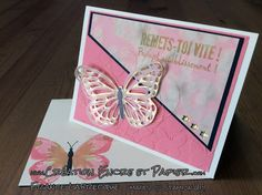 Stampin'Up!  Carte Encouragement  Get Well Card  Framelits Papillons / Butterfly  Wink of Stella  www.creationencreetpapier.com