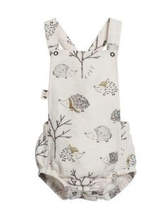 80abd5353873 Hedgehog Sleeveless Romper. Cute HedgehogBaby Must HavesBaby Outfits Newborn Baby BoutiqueRomper SuitBaby SkinMatching Family OutfitsOverallsBodysuit