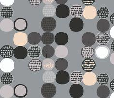 afro circles fabric by katarina on Spoonflower - custom fabric
