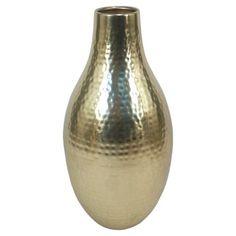 Vase Thrshd Metal 13.5in