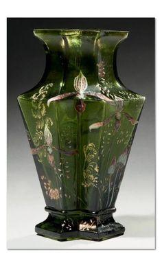 Emile Gallé, Nancy, Blown, Internal Inclusions, Etched and Enameled Glass Vase Art Nouveau, Deco Design, Glass Design, Blog Art, Keramik Vase, Bottle Vase, Objet D'art, French Art, Antique Glass
