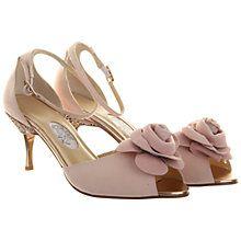 Buy Rainbow Club Sugar Plum Peep Toe Leather Court Shoes, Rose Pink Online at johnlewis.com