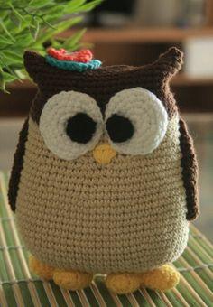 Lechuza hecha a crochet