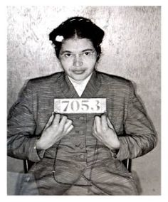 Rosa Parks at the beginning of the Montgomery Bus Boycott.
