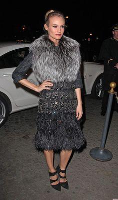 Diane Kruger - Giambattista Valli Couture Show at Paris Fashion Week, 2012
