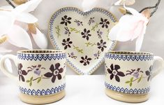 The Ideal Valentine Gift Valentine Gifts, Valentines Day, Engagement Presents, Clematis, Purple, Pink, Tea Cups, Anniversary, Pottery