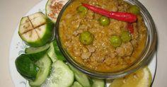 Ground Pork with Coconut milk (Khmer Prohok Khtis)    This is my second recipes of Prohok Khtis with lemongrass in my blog.  2Tof lemon...