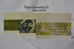Paper Geometry Co. note cards made from my hand painted papers.
