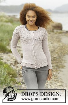 Ravelry: 171-52 Crystal Bright Cardigan pattern by DROPS design