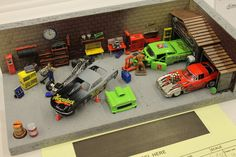 Race Shop Diorama