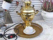 vintage Samowar Teemaschine Wasserkocher