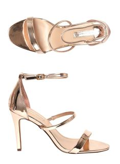 26e1327cd3918 Rose Gold  Bianca  Heeled Sandals. Carousel Image 3. hayley vine · Clothes  and Shoes