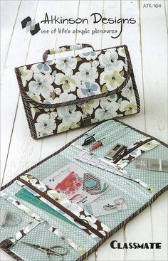 Classmate bag sewing pattern by Atkinson Designs - FREE SHIP with fabric