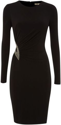 Embellished Cutout Bodycon Jersey Dress - Biba