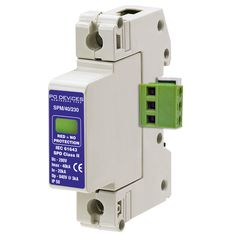 A1SPM/40/230R - 40kA Single Phase with Remote Connector [L-N, L-E] - Type 2 Test Class II - This modular #surgeprotection #device provides #protection of equipment connected to incoming low voltage AC power supplies against the damaging effects of transient over voltages caused by local #lightning strikes, or the switching of electrical inductive or capacitive loads.
