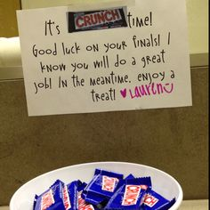 fun encouragement for teachers during conferences, programs and end of year!  (also for kids studying for finals! :)