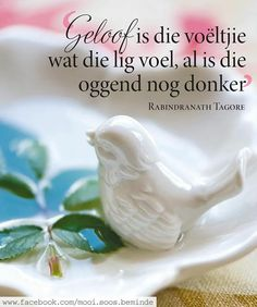 Afrikaanse Quotes, Rabindranath Tagore, Goeie Nag, Goeie More, Godly Woman, Disney Quotes, Woman Quotes, Qoutes, Inspirational Quotes