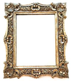 19.25 Vintage Ornate Gilded Gold Mirror  by PepperMintRhino