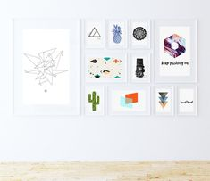 Create your own art gallery with any of these 33 free modern art printables. Click, print and pop them in a frame to add some personality and interest!