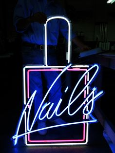 let your NAILS be a necessary accessory Nail Salon Design, Nail Salon Decor, Salon Interior Design, Nail Signs, Nails Bar, Nail Logo, Salon Signs, Nail Quotes, Neon Aesthetic