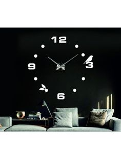 Beautiful white clock on the wall - LIANA Reference:  12S006-RAL9010-S-COLOR* Condition:  New product  Availability:  In Stock  Choose a color by yourself! The time has come much more cozy realít new clock. 3D large wall clock is a beautiful decoration of your interior. You'll never be late.
