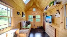 Couple Builds Beautiful Mortgage Free Solar Powered Tiny House on Wheels for $20k