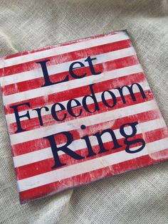 Let freedom ring patriotic decor red white and by scrapartbynina on ETSY