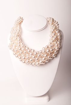 Wrapped Pearl Statement Necklace