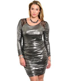 Metalic Bodycon Dress
