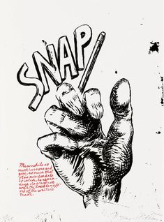 Untitled-Snap, by Raymond Pettibon. An anti-establishment draftsman rooted in the punk-rock music scene, Raymond Pettibon makes art that rec. Sonic Youth Albums, Raymond Pettibon, Institute Of Contemporary Art, Concert Flyer, Tate Gallery, New Museum, Artwork Images, American Artists, Word Art