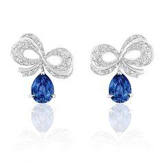Dior Milieu du Siecle Diamant sapphire earrings