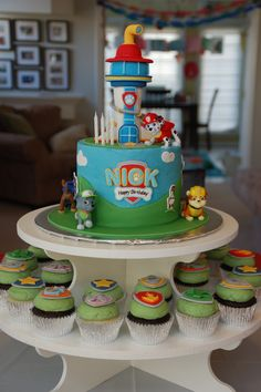 Paw Patrol cake & cupcakes by Cake Grooves