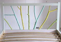 IKEA hack: Twin Fjellse Bed Frame headboard hack