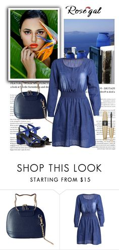 """Rosegal blue dress"" by newoutfit ❤ liked on Polyvore featuring Victoria's Secret, dress, women and rosegal"