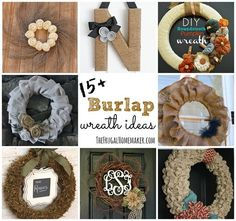15+  Burlap wreath ideas - a burlap wreath for every season! - TheFrugalHomemaker.com