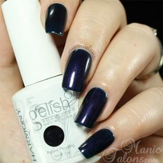 Gelish Deep Sea - deep navy blue with red & blue shimmer (dupe for OPI Russian Navy)