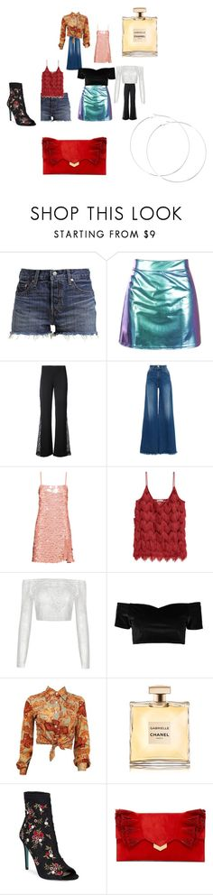 """Old friends"" by sam-phil on Polyvore featuring Levi's, Alice + Olivia, Frame, Miu Miu, Boohoo, Betsey Johnson and Jimmy Choo"